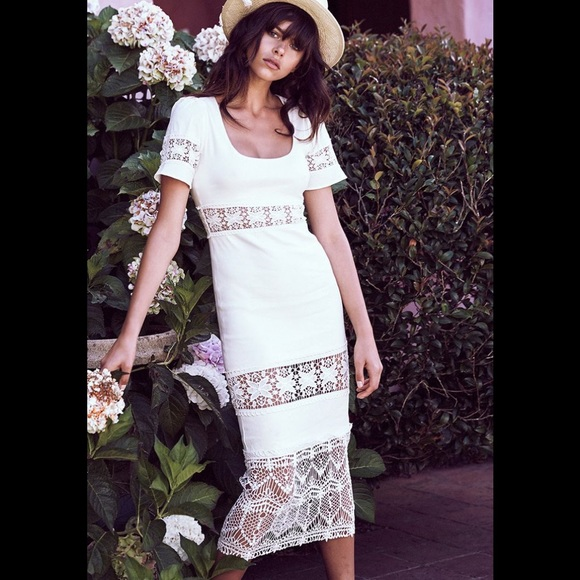 5a4f845b70d Stone Cold Fox White Dryden Short Casual Dress. M 5adffa0a84b5ceb2026f6b7e